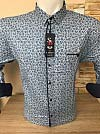 Batal shirt, Sinyor Besni, sleeve transformer, fitted, with a print, three buttons