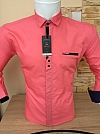 Shirt, Gold Milano, long sleeve, monophom, fitted, buttons, pocket blende