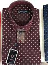 Shirt, Emilio Betti, short sleeve, fitted, abstract print, buttoned