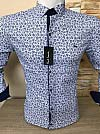 Shirt, Paul Smith, transformer sleeve, fitted, with print, with buttons