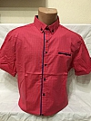 Shirt, X-Port, short sleeve, with print, fitted, with buttons, pocket-blende