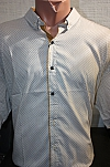 Shirt, Sinyor Besni, short sleeve, with print, metal buttons
